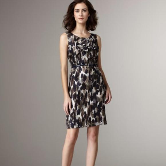 403343e75be KATE SPADE Rhea Ruffle Midnight Ink Blot Dress N4